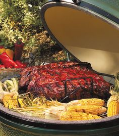 The Big Green Egg - Makes me want to cook out tonight!
