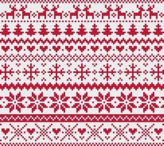 Christmas Red Fair Isle Modern Cross Stitch Pattern by RathboneSass on Etsy Punto Fair Isle, Motif Fair Isle, Fair Isle Chart, Cross Stitch Boarders, Cross Stitch Charts, Cross Stitching, Cross Stitch Embroidery, Fair Isle Knitting Patterns, Knitting Charts