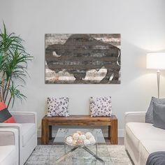"""Trent Austin Design Buffalo II Painting Print on Wrapped Canvas Size: 8"""" H x 12"""" W x 0.75"""" D"""