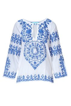 Cool embroidered blouse ~ Melissa   Odabash  ::::: ❥