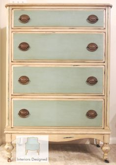 Gorgeous Antique Dresser Custom Chalk Painted Dresser on Etsy, $595.00.  I want this. Could easily be a cheap DIY project if you by from goodwill
