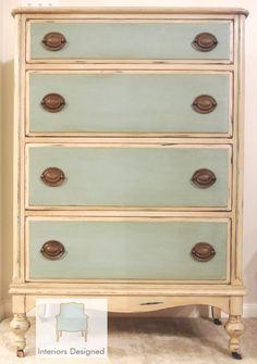Gorgeous Antique Dresser Custom Chalk Painted Dresser on Etsy, $595.00