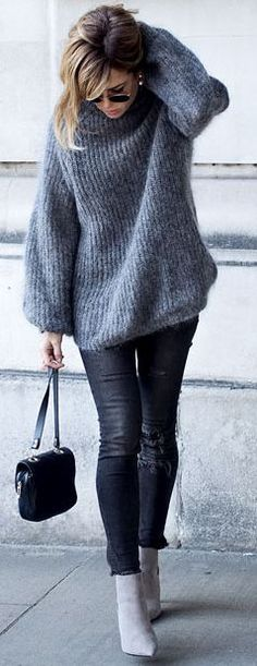 Un-likely Shades Of Gray Fall Street Style Inspo #Trendy #Accessories.