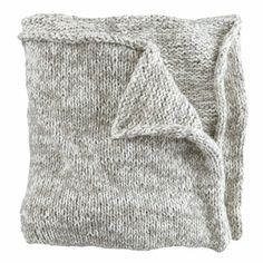 Nice and Knit Grey Cotton Blanket
