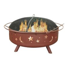 Wonderfully designed, this large fire pit has the ability to burn larger fires for longer