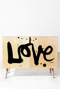 Buy Credenza with Love 1 designed by Kal Barteski. One of many amazing home décor accessories items available at Deny Designs. Graffiti Furniture, Furniture Logo, Furniture Styles, Kids Furniture, Furniture Design, Plywood Furniture, Chair Design, Design Design, Modern Furniture