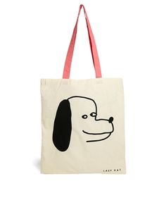 Lazy Oaf Dog Print Shopper Bag