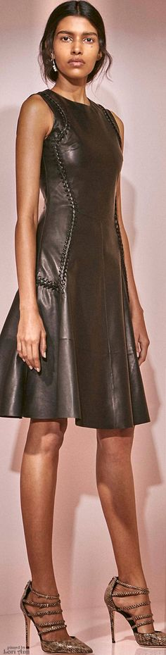 Prabal Gurung Pre F-16: leather dress.