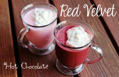 Red Velvet Hot Chocolate Red velvet cake is to die for. I love that stuff! That is why when I saw this recipe for red velvet hot chocolate I KNEW I had to share it! I cannot wait to try it. Red velvet cake…in a cup?! Love it!Ingredients:4 cups whole milk1/4 cup granulated sugar10 ounces semi-sweet baking chocolate, c...  Read More at http://www.chelseacrockett.com/wp/beauty/red-velvet-hot-chocolate/.  Tags: #Drinks, #HotChocolate, #HotDrink, #RedVelvetHotChocolate, #Re