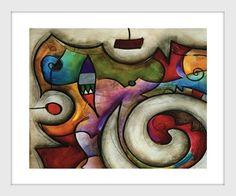 Imagem de Quadrinho Abstrato Kandinsky