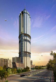 North Eye, Noida-India, 255 m, UC-completion 2015, architect- Space Designers International Architects Pvt, Ltd