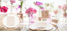 Love this pink wedding reception table decoration! Styled wedding reception shoot by Knoxville wedding photographer JoPhoto. #wedding #reception #centerpieces #inspiration #diywedding