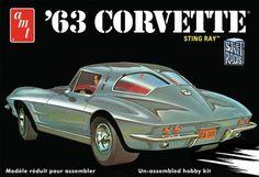 AMT Model Cars 1/25 1963 Chevy Corvette Sting Ray Car (3 'n 1) Kit