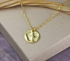 New mom jewelry new mom necklace gold vermeil by WendyShrayDesigns