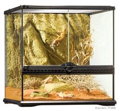 The Exo Terra Glass Terrarium is the ideal reptile or amphibian housing designed by European herpetologists The front opening doors allow easy access