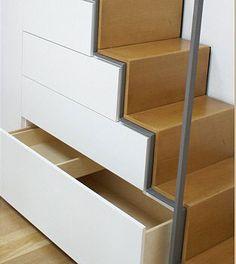 Schubladen und Türen öffnen und schließen grifflos, so lässt sich die Fläche leichter pflegen.