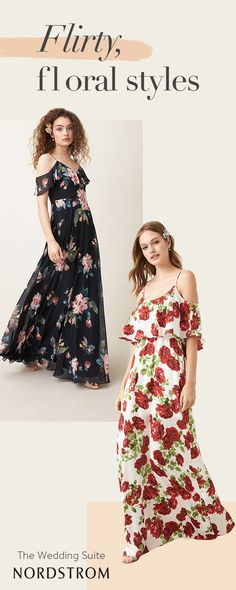 Up your wedding day romance when you send your girls down the aisle in flirty, floral gowns. These ruffled bodices and elegant A-line styles flatter a variety of figures, making it a go-to everyone will love. Shop bridesmaid at the Nordstrom Wedding Suite.