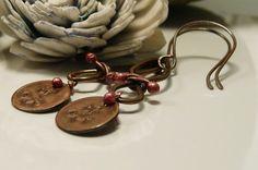 Copper Fly Away Super Dangly Earrings by ksyardbird on Etsy, $23.00