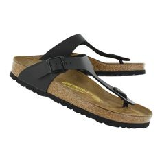 Birkenstock Womens GIZEH black thong sandals now that I'm older and falling apart! Addition Elle, Stylish Sandals, Birkenstock Sandals, Shoe Show, Black Sandals, Pairs, My Style, Lady, Boots