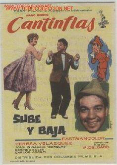 CANTINFLAS   -    SUBE Y BAJA (Cine - Folletos de Mano - Comedia)