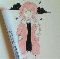 Ig : nemupan aesthetic drawings, aesthetic art, art tips, cool drawings, pencil Copic Kunst, Copic Art, Art And Illustration, Anime Kunst, Anime Art, Art Pastel, Poses References, Cute Art Styles, Wow Art