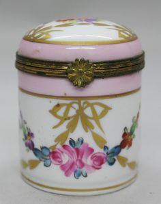 ANTIQUE VINTAGE LIMOGES TRINKET BOX