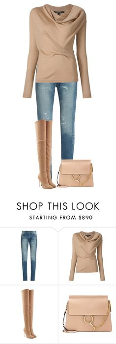 """""""Untitled #892"""" by angela-vitello on Polyvore featuring Yves Saint Laurent, Balmain and Chloé"""
