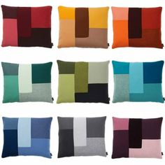 Inspired by #patchwork, these geometrical cushions are a modern and elegant play with shapes, colours and materials. http://www.awhiteroom.com/normann-copenhagen/normann-copenhagen-brick-cushion.asp