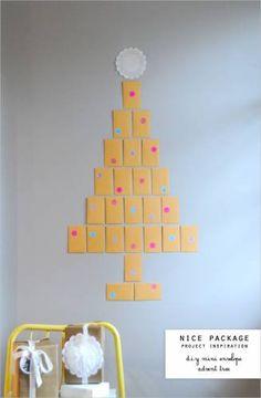 Mini envelope advent calendar