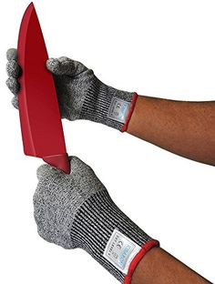 Kibaron Cut Resistant Kitchen Gloves with Cut Level 5 Protection for Your Safety, Medium