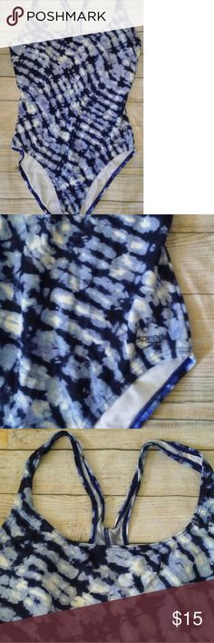 Speedo Blue Tye Dye One piece One piece swimsuit Speedo Swim One Pieces