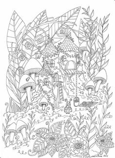 Blank Coloring Pages, House Colouring Pages, Printable Adult Coloring Pages, Coloring Sheets, Coloring Books, Free Adult Coloring, Up Book, Art Pages, Colorful Pictures