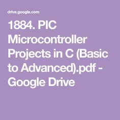 Pic Microcontroller Projects In C Basic To Advanced Pdf