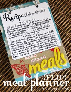 Flip Recipe Organizer Tutorial | Positively Splendid {Crafts, Sewing, Recipes and Home Decor}