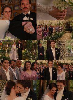 Bella and Edward's Wedding~Breaking Dawn Part 1 Twilight Saga Series, Twilight Cast, Twilight New Moon, Twilight Movie, Jasper Twilight, Bella And Edward Wedding, Bella Wedding, Wedding Pics, Edward Bella