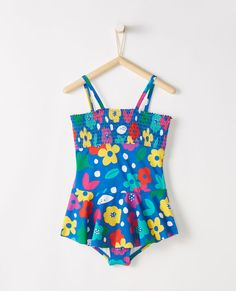 Happy Cherry Girls Lovely One Piece Ruffle Swimsuits One Shoulder Bathing Suit UV Protection Beach Swimwear for 1-7 T