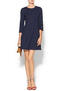 Navy Knit Mini Dress