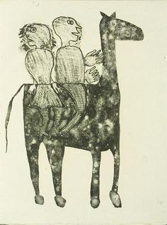 Jean Dubuffet, Untitled from Matière et mémoire ou les lithographes à l'école by Francis Ponge [1944]