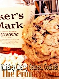 Whiskey Cherry Oatmeal Cookies | The Drunk Oven