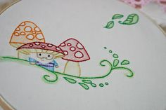 Fabric Mushroom Pattern | ... for a special someone and the third a fun gnome and mushroom pattern