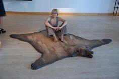 wooden, bear-skin rug''SUBSTITUTE'' | https://www.etsy.com/listing/79539002/wooden-bear-skin-rugsubstitute?