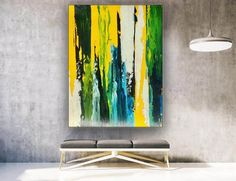 Large Abstract Painting Kitchen Decor Oversized Wall Art image 5 Oversized Wall Art, Large Canvas Wall Art, Art Images, Kitchen Decor, Abstract, Painting, Summary, Art Pictures, Painting Art
