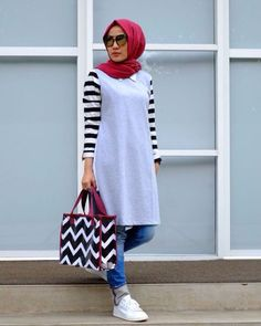 shirt dress hijab 2018-Modest and colorful hijab outfits – Just Trendy Girls
