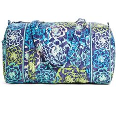 Vera Bradley Small Duffel Travel Bag in Katalina Blues ($68) ❤ liked on Polyvore featuring bags, luggage, katalina blues, sale and travel