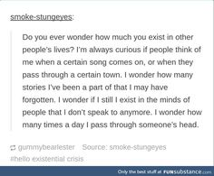 commence existential crisis