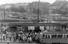 Moszkva tér Light Rail, Budapest Hungary, Old Pictures, Historical Photos, Paris Skyline, Louvre, Country, City, World