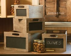 Blackboard Produce Crates: Assorted Set of 4