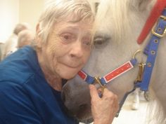 equine therapy helping the elderly <3 this picture makes me tear up.  www.hawaiiislandrecovery.com