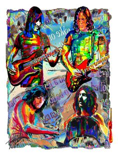 Pink Floyd Roger Waters David Gilmour Richard Wright by thesent
