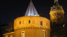 Catedral de Amsterdam de noche